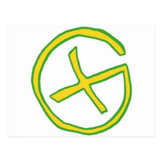 Cartão Postal Geocaching verde
