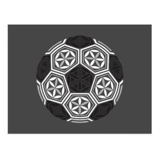 Cartão Postal geometria sagrado do futebol