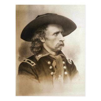 Cartão Postal George Armstrong Custer cerca dos 1860s