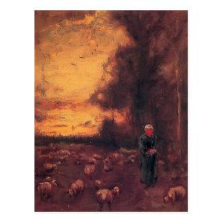Cartão Postal George Inness: Fim do dia