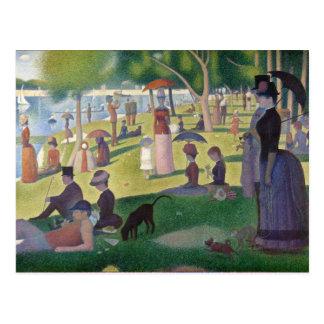 Cartão Postal GEORGE SEURAT - Um 1884 um domingo à tarde