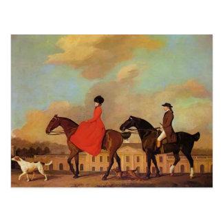 Cartão Postal George Stubbs- John e agrupamentos de Sophia