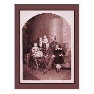 Cartão Postal George V de Hanover e de família