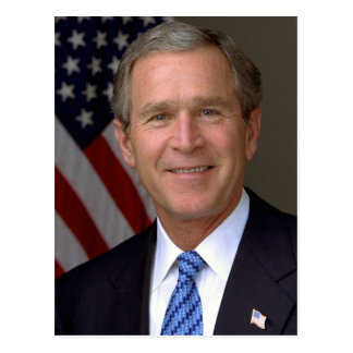 Cartão Postal George W Bush