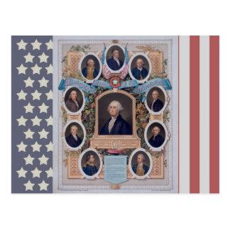 Cartão Postal George Washington e os pedreiro da revolução