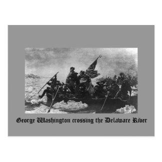Cartão Postal George Washington que cruza o Rio Delaware