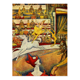 Cartão Postal Georges Seurat - Der Zirkus - circo