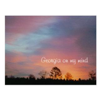 Cartão Postal Geórgia em minha mente