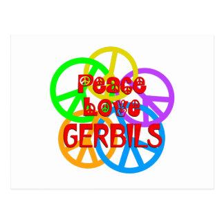 Cartão Postal Gerbils do amor da paz