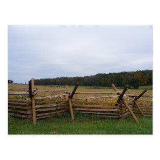 Cartão Postal gettysburg no campo de batalha da queda