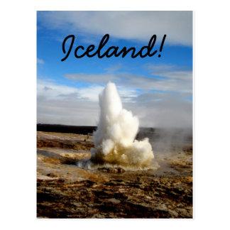 Cartão Postal Geyser islandês