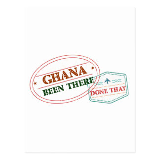 Cartão Postal Ghana feito lá isso