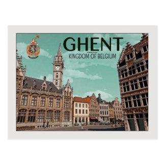 Cartão Postal Ghent - Korenmarkt