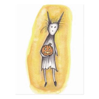 Cartão Postal Ghoul só com abóbora