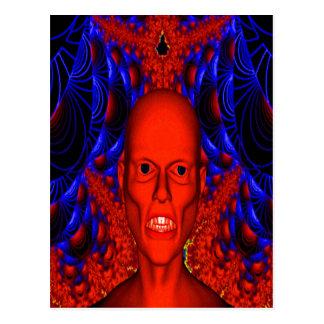 Cartão Postal Ghoul vermelho