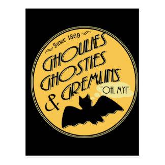 Cartão Postal Ghoulies Ghosties e Gremlins