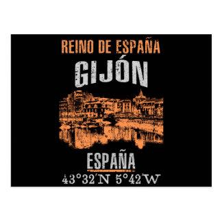 Cartão Postal Gijón