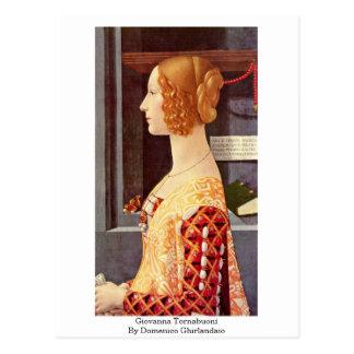 Cartão Postal Giovanna Tornabuoni por Domenico Ghirlandaio
