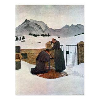 Cartão Postal Giovanni Segantini - a dor da lamentação