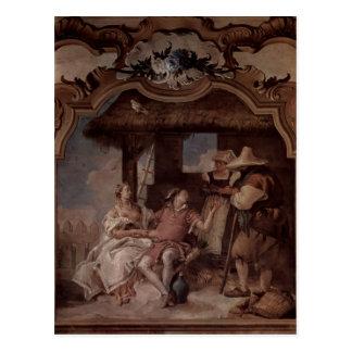 Cartão Postal Giovanni Tiepolo: Angélica & Medorus com