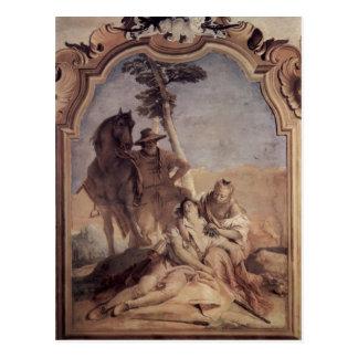 Cartão Postal Giovanni Tiepolo: Angelica&shepherd que importa-se