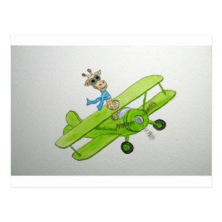 Cartão Postal Girafa de Fflying