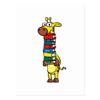 Cartão Postal Girafa que guardara livros