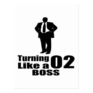 Cartão Postal Girando 02 como um chefe