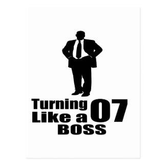 Cartão Postal Girando 07 como um chefe