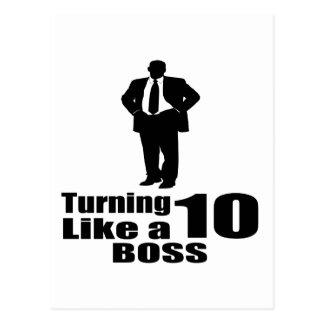 Cartão Postal Girando 10 como um chefe