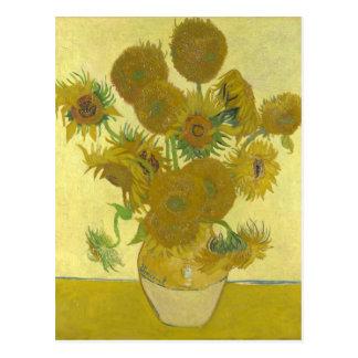 Cartão Postal Girassóis por Vincent van Gogh