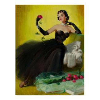 Cartão Postal Glamorous Up with Roses