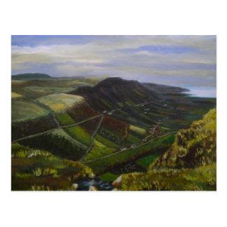 Cartão Postal Glenariff, vales da pintura a óleo de Antrim - J