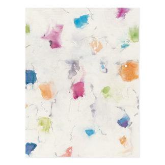 Cartão Postal Glitterati eu abstraio o impressão   Mike Schick