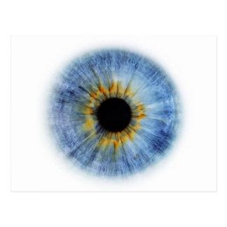 Cartão Postal Globo ocular azul