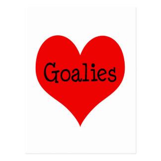 Cartão Postal Goalies do coração