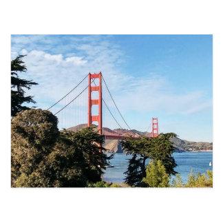 Cartão Postal Golden gate bridge, Califórnia CA