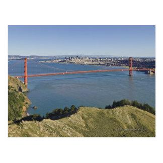 Cartão Postal Golden gate bridge e San Francisco. 4