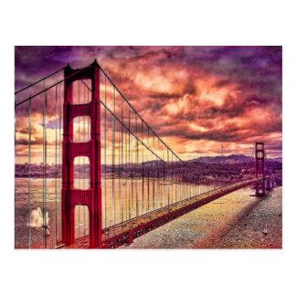 Cartão Postal Golden gate bridge em San Francisco, Califórnia