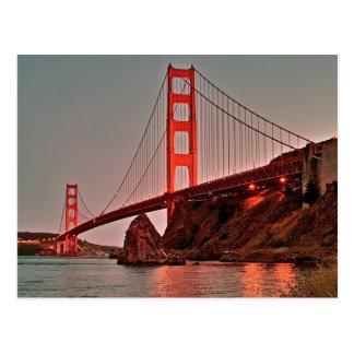 Cartão Postal Golden gate bridge em Sun para baixo