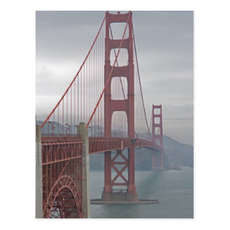 Cartão Postal Golden gate bridge na névoa