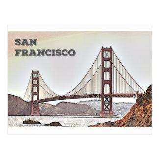 Cartão Postal Golden gate bridge - o San Francisco, CA