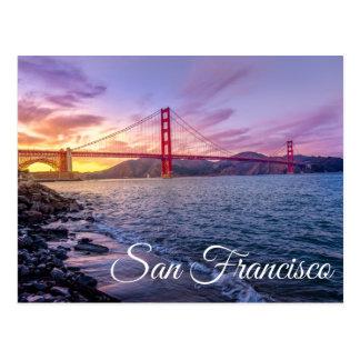 Cartão Postal Golden gate bridge San Francisco, Califórnia CA