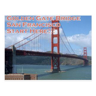 Cartão Postal Golden gate bridge San Francisco Califórnia EUA