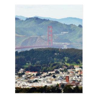 Cartão Postal Golden gate bridge visto dos picos gêmeos
