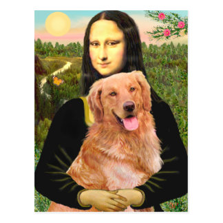 Cartão Postal Golden retriever 2 - Mona Lisa
