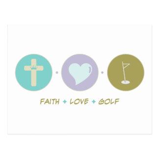Cartão Postal Golfe do amor da fé