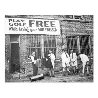 Cartão Postal Golfe do jogo livre (ao ter seu terno pressionado)
