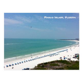 Cartão Postal Golfo do México da praia de Florida da ilha de