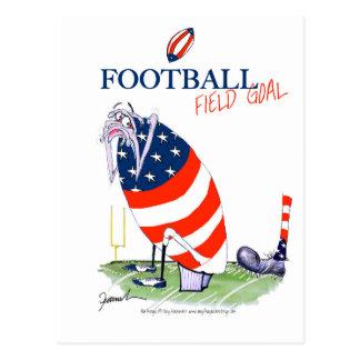 Cartão Postal Golo de campo do futebol, fernandes tony